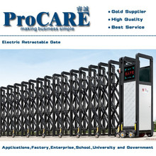Industrial Trackless intelligent retractable folding expandable gate