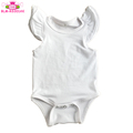2018 baby girls spring summer clothes kids boutique flutter sleeve onesie baby ruffle rompers wholesale
