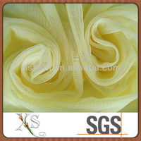 Yellow Thin Polyester Plain Nude Mesh Fabric
