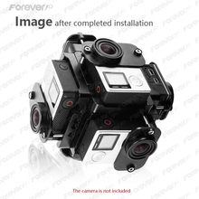 2016 New Arrival Panorama Bracket Frame Mount 6 Pcs go pro 4 3 3+ full hd 1080p wifi 4k action sport camcorder