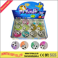100MM Soccer Printing Flashing LED Bounce Ball With Water
