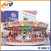 Amusement park equipment kiddie rides classic carousel horse indoor amusement game machine/ merry go round carousel for sale