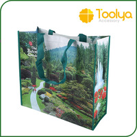 Recycled Colorful pp woven bag laminated pp woven shopping bag