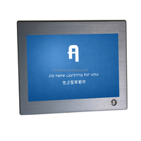 High quality 6mm thickness metal bezel android industrial panel pc