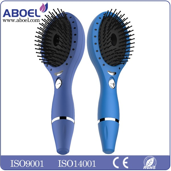 Custom Printed Combs wholesale Ionic LED Light Rechargeable Hair Brush Professional