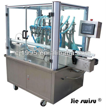 Foot operated hand wash filling machine