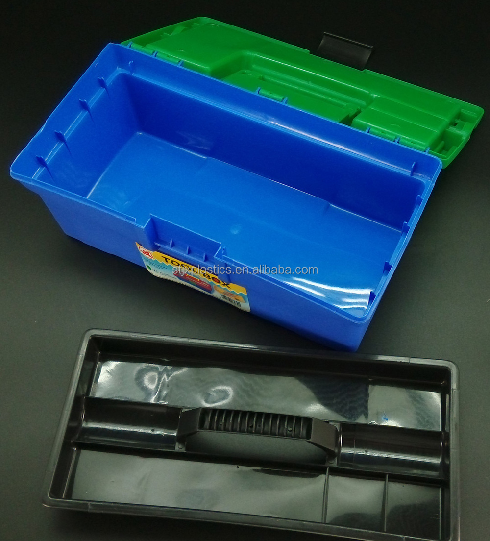 beach plastic tool box with drawers