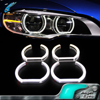 Guangzhou canton fair newest products E92 led headlight smd angel eyes led lighting angel eyes for b-m-w