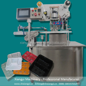 tray sealing machine/plastic tray making machine/tray sealer machine