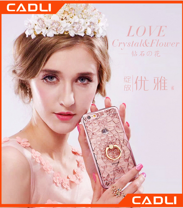 Latest For iPhone 6 6 Plus Accessories Electroplating Soft TPU Flower Pattern Phone Case