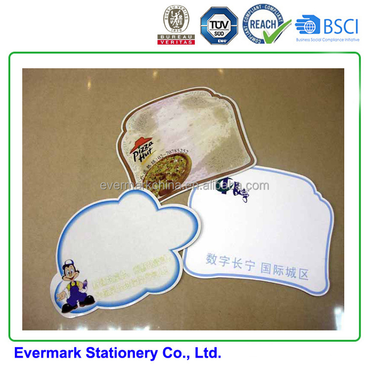 OEM CMYK Eraserable Magnet WhiteBoard Fridge Magnet Memo With Cheap Price different shapes