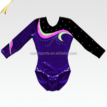 Dreamlight Girls Gymnastics Metallic Rhinestones Sparkle Leo Leotard