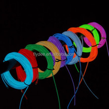 High Brightness diameter 1.2mm 2.3mm 3.2mm 4.3mm 5mm remote control rgb el wire for decoration
