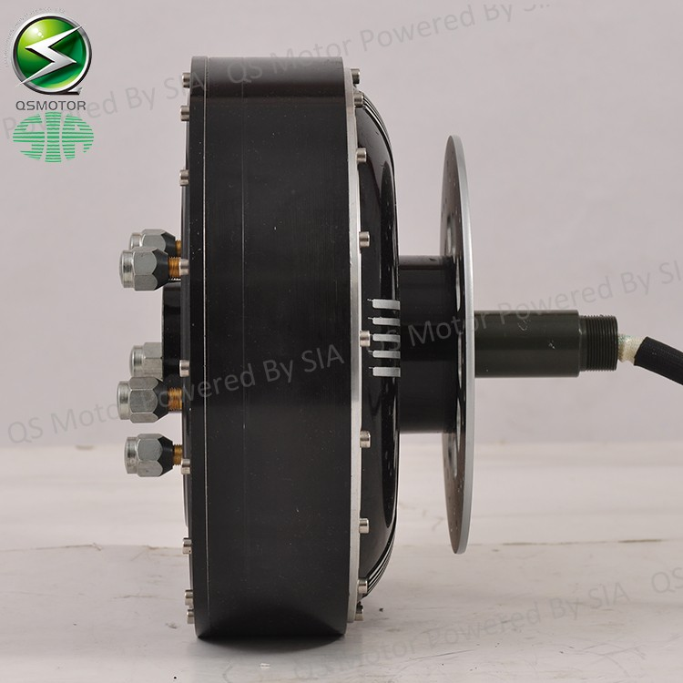 QSMOTOR 4000W 273 40H V3 BLDC brushless electric car hub motor hybrid conversion kits with Kelly 7250H