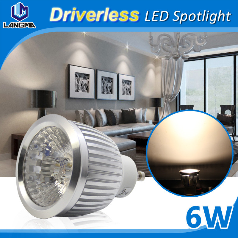 Very Bright Low Power Consumption Dimmable 6W Epistar MR11 GU10 Led Spot 2700-2900K