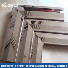 0.8mm 8k mirror finish stainless steel home door frame and window frame