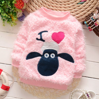 Cartoon woolen sweater designs for kids wear fall and winter fashion child clothes wholesale baby sweater design (ulik-S001)