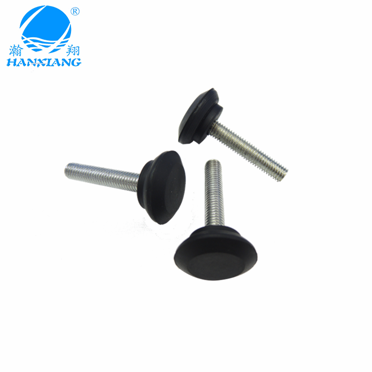 wholesale adjustable silicone black rubber feet with screw
