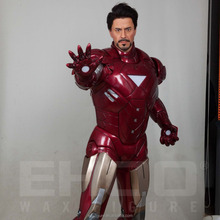 Iron Man Realistic Full-sized Wax Sculpture for Visitor