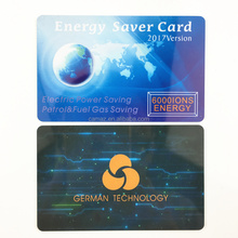 PVC plastic card, high energy card for saving power & fuel