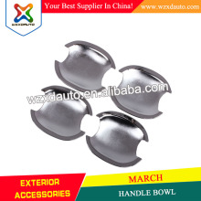 HANDLE BOWL SET CHROME DOOR HANDLE BOWL INSERTS COVER 2 DOORS FOR MARCH 2010