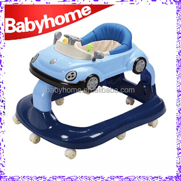 2015 New baby product car style 8 wheels baby walker in china