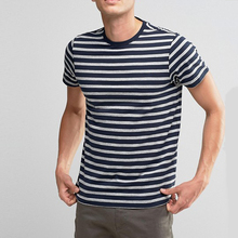 New Style Custom Slim Fit Blank Wholesale Striped T-Shirt China Supplier