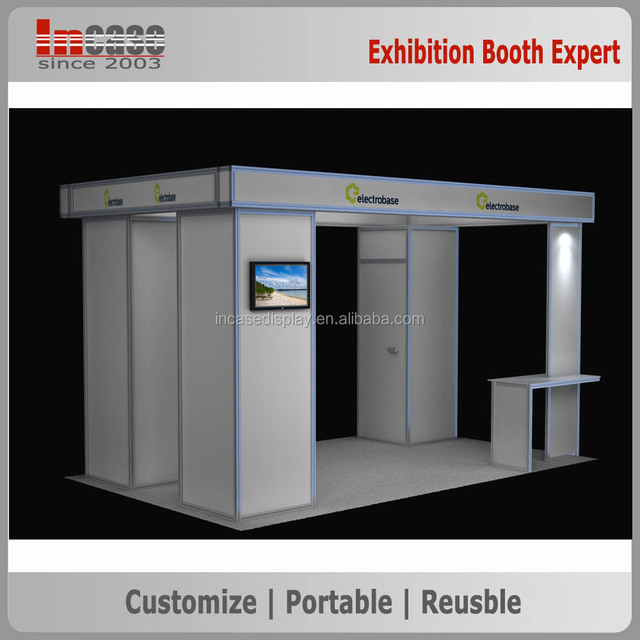 Aluminum modular 10x10 exhibition display stand