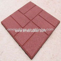 outdoor rubber brick pavers/red brick pavers