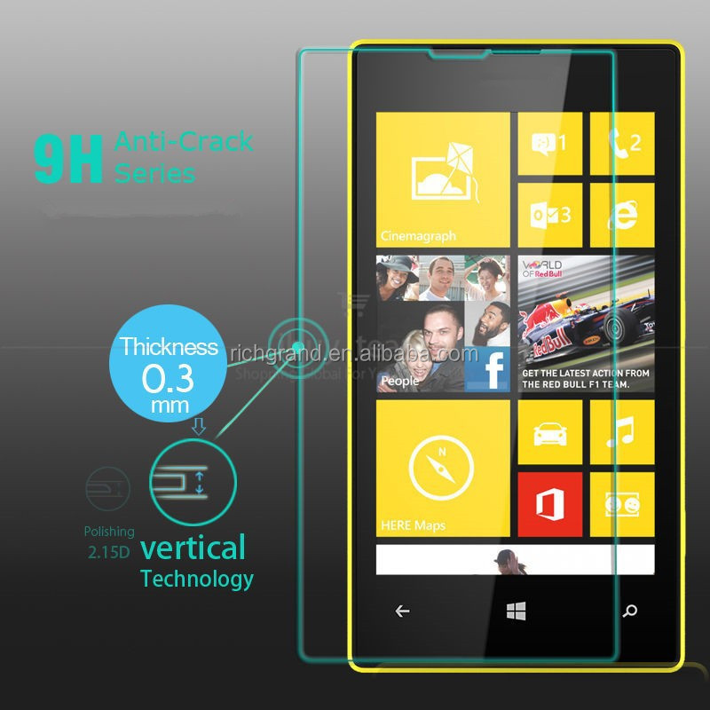Real anti-explosion tempered glass screen protector for Nokia Lumia 520 525 526