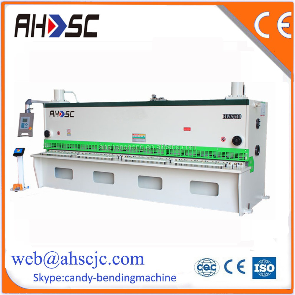 plate metal shearing machine sheet cutter guillotine aluminium cutting machine