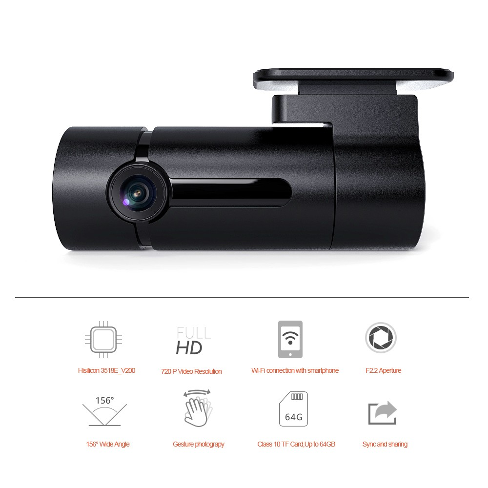 Factory wholesale Brand OEM Original Design car DVR Recorder with WIFI G-Sensor 1080P F2.2 Aperture wide Angle Camera ME1