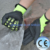 Shock Absorbing Work Gloves TPR Mechanic Impact Gloves