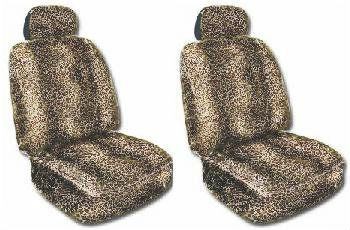 Leopard Animal Print Seat Cover 2 pcs