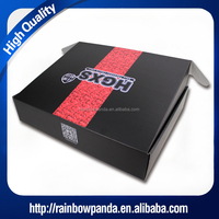 Black printed foldable packaging corrugated kraft cardboard paper shipping box