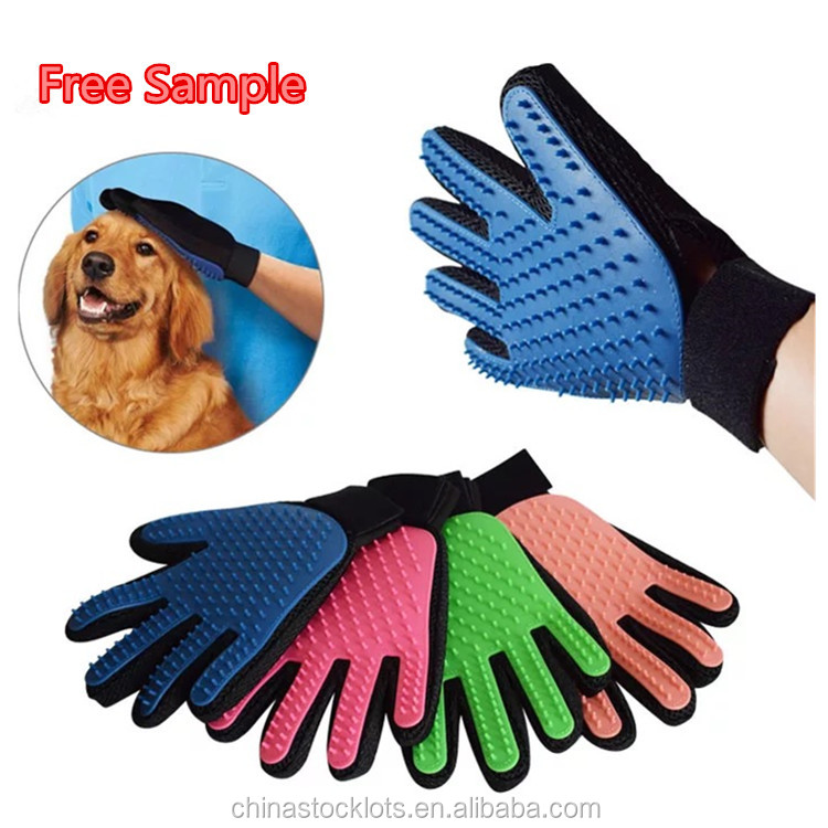 Fast Delivery pet supplies competitive price pet shops promotion clean up products grooming brush deshedding glove
