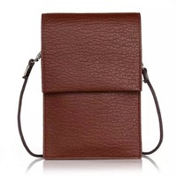For iPad universal cell phone bag mobile accessories leather bag with shoulder straps