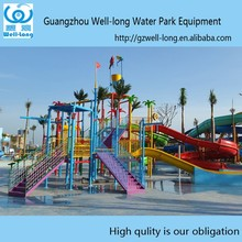 Hot selling China factory supply used fiberglass water park slides Water House for sale