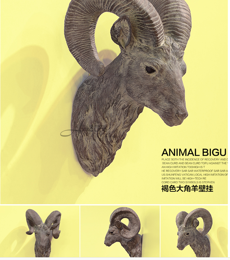 High grade resin animal head sculpture handicrafts wall ornaments