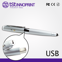 Father's Day Promotion 5 in 1 OEM Metal USB Pen Flash Drive with Laser Pointer