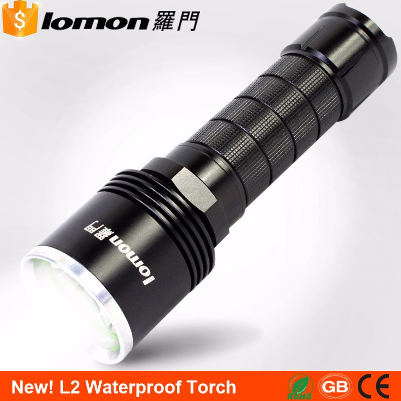 T6 <strong>L2</strong> 5 Modes Powerful Waterproof 26650/18650 Battery Rechargeable Led Tactical Flashlight
