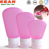 Promotion novelty custom design unique silicone pink cosmetics jar