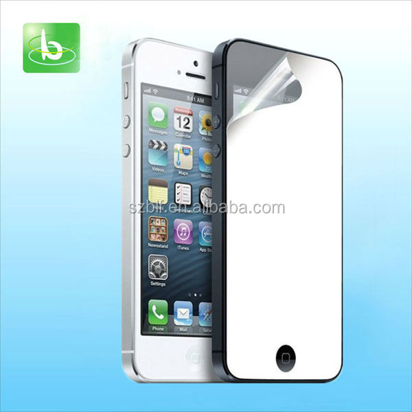 China factory supply magic mirror effect anti-scratching mirror screen protector for iphone 6
