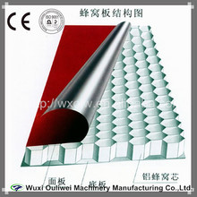 Aluminum honeycomb core machine of honeycomb board