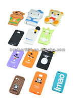 Catoon Animal design silicone phone case for mobile phone