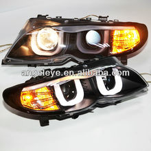 For BMW E46 318 320 323 325 330CI Head lamp 4 doors Angel Eyes 2001-2004