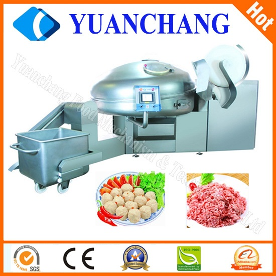 Vacuum Bowl Cutter industrial meat bowl cutter meatball machine