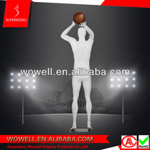 Fiberglass strong realistic pose male basketball mannequin