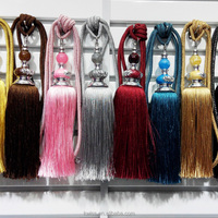 fancy tassel fringe curtain accessories in China,long tassel tieback