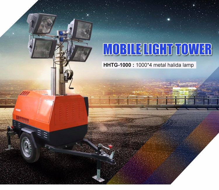 Portable Telescopic Light Tower: Industrial Telescopic Generator Light Tower
